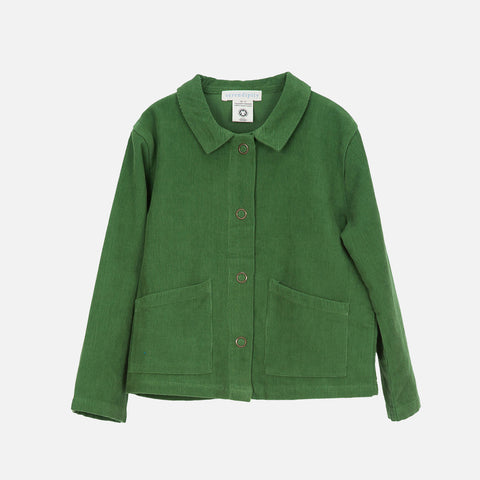 Organic Cotton Corduroy Jacket - Green - 3-9y