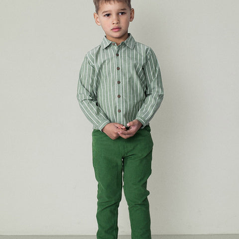 Organic Cotton Corduroy - Green - 6y