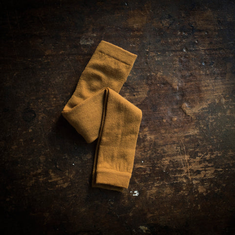 Exclusive Soft Wool Leggings/Footless Tights - Ochre