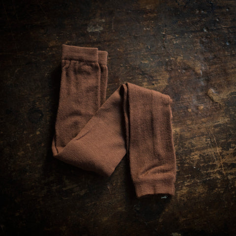 Exclusive Soft Wool Leggings/Footless Tights - Nutmeg
