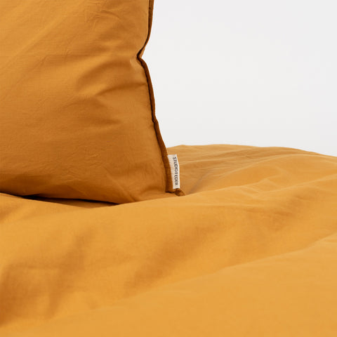 Organic Duvet & Cushion Cover - Ochre - Junior Size