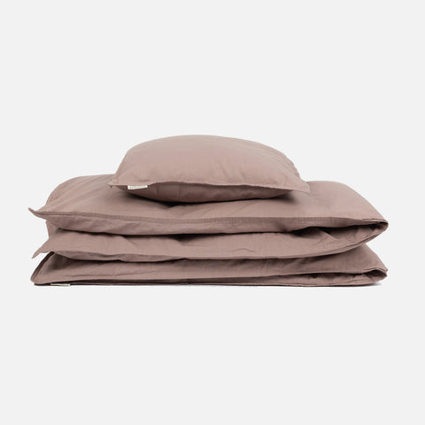 Organic Cotton Duvet & Cushion Cover - Violet - Single
