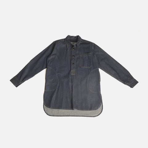 Adult Cotton Twill Worker Shirt - Denim