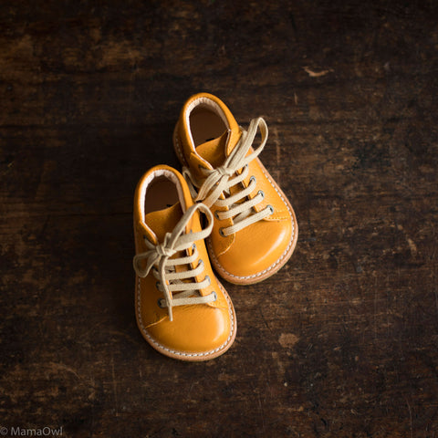 Leather Toddler Boots - Ochre - 20 (UK 4) - 25 (UK 8)