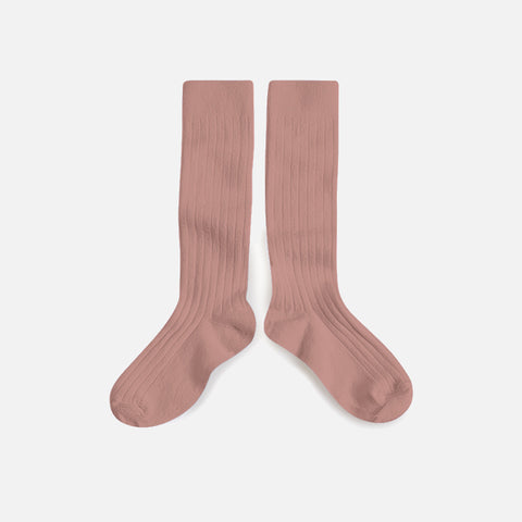 Babies & Kids Cotton Knee Socks - Rosewood