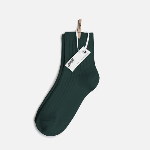 Adult Cotton Short Socks - Fern