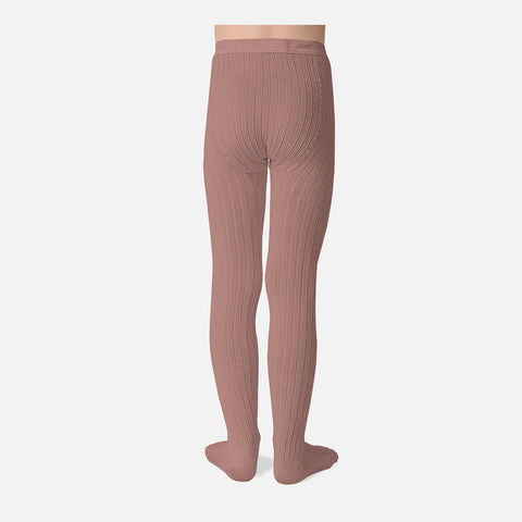 Cotton Babies & Kids Rib Tights - Rosewood