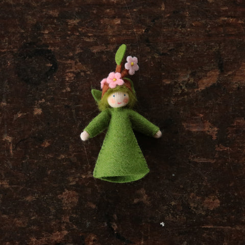 Handmade Small Wool Flower Fairy - Blooming Branch Boy