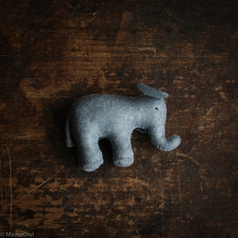 Handmade Large Wool Elephant