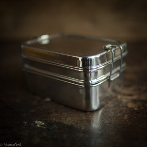 Stainless Steel Two Tier Lunch Box With Mini Container