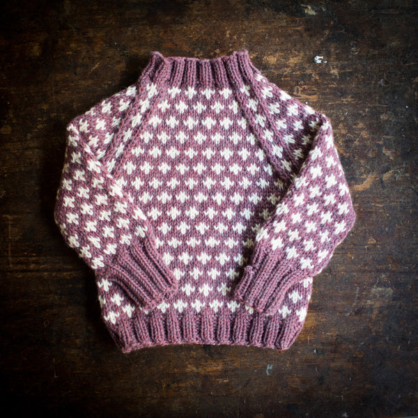 Hand-Knit Sweater Knud - Heather