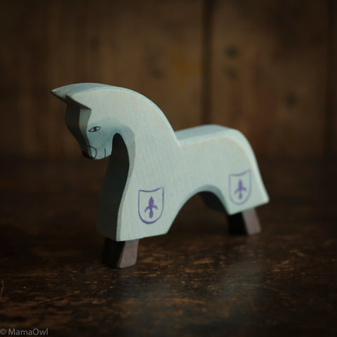 Handcrafted Horse For Knight - Blue