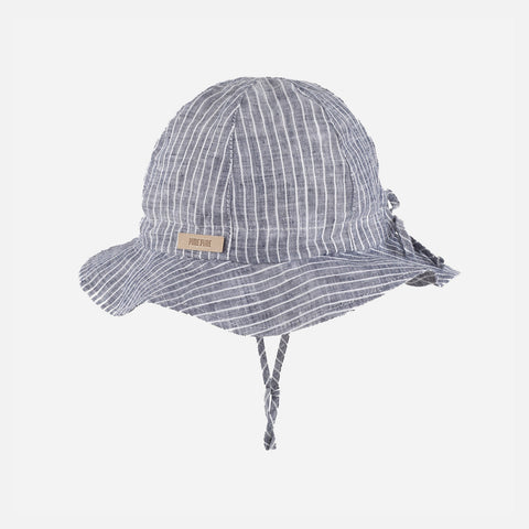 Linen Sun Hat - Marine Stripes
