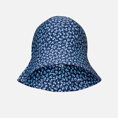 Frey Swim Sun Hat - Dusty Blue Flowers