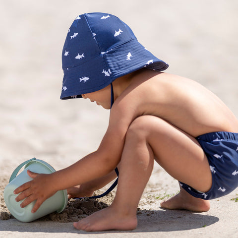 Frey Swim Sun Hat - Blue Ocean Fish