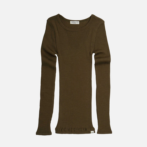 Merino Wool Atlantic LS Top - Moss