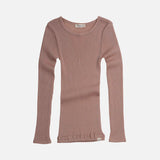 Merino Wool Atlantic LS Top - Pearl