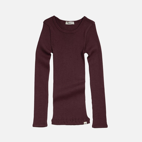 Merino Wool Atlantic LS Top - Raisin