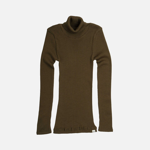 Merino Wool Alf LS Top - Moss