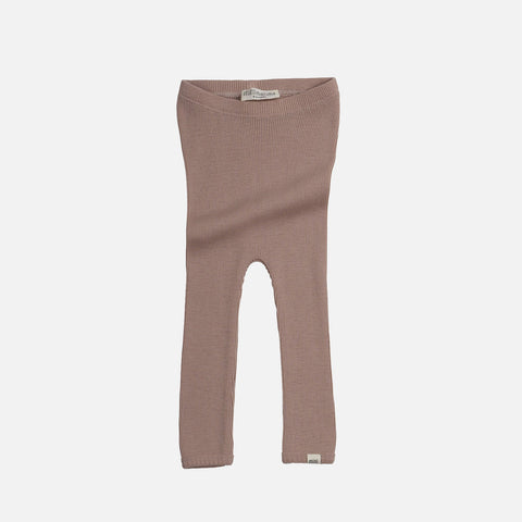 Merino Wool Arona Leggings - Pearl