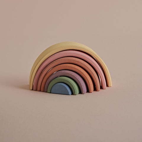 Wooden Arch Stacker - Pastel