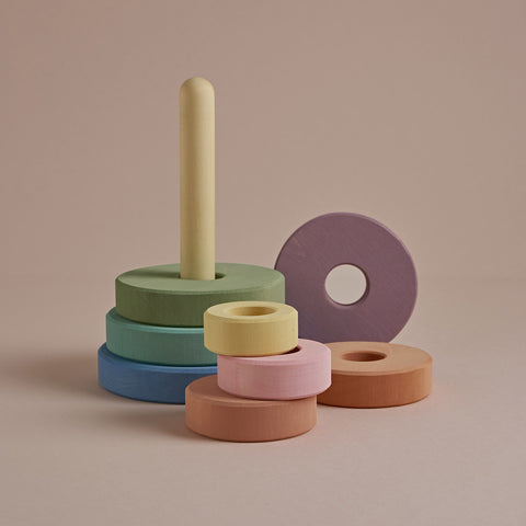 Wooden Stacking Tower - Pastel