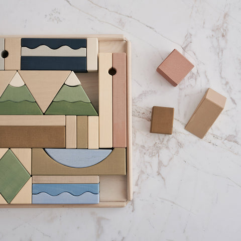 Wooden Mountain Building Blocks