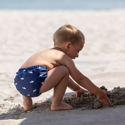 Leo Swim Nappy - Blue Ocean Fish