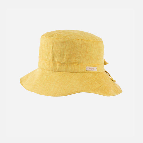 Linen Bucket Hat - Mango