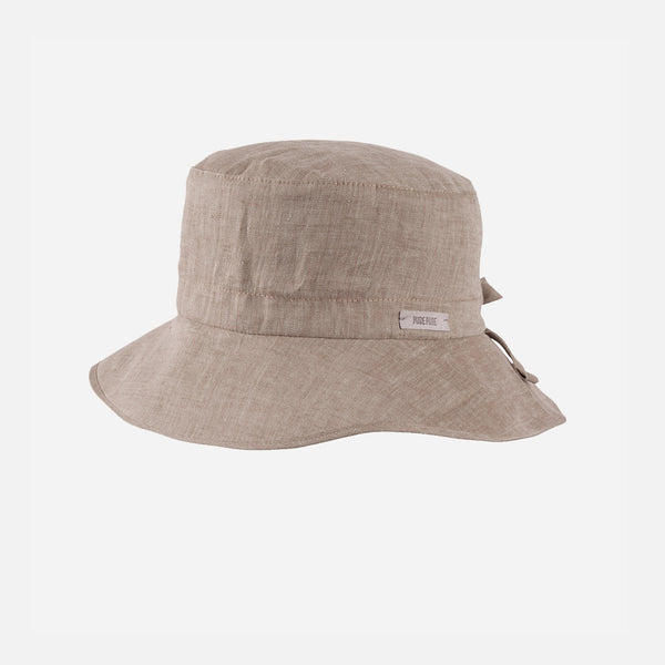 Linen Bucket Hat - Moon Rock