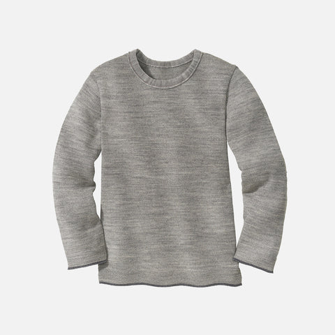 Merino Wool Knitted Jumper - Grey
