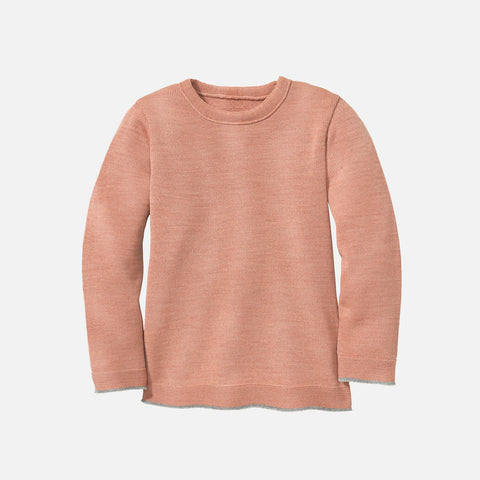 Merino Wool Knitted Jumper - Rose