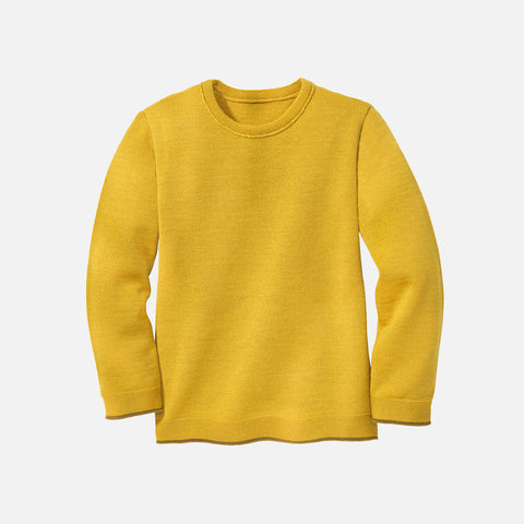 Merino Wool Knitted Jumper - Curry