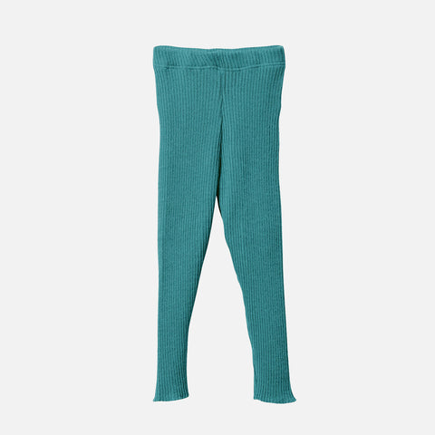 Organic Merino Wool Leggings/Trousers - Lagoon