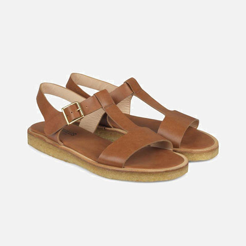 Women's T-bar sandal - Tan