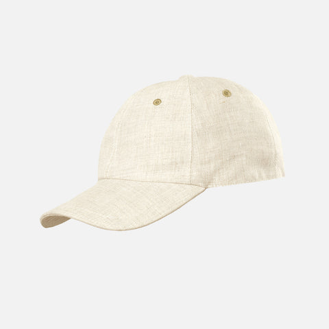 Adult's Linen Peak Sun Cap - Natural