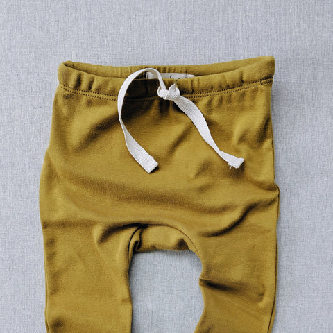 Organic Cotton Leggings - Chartreuse