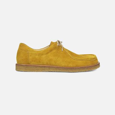 Women's Lace Shoe - Yellow Suede