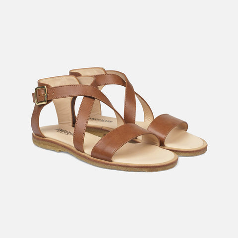 Women's Cross Strap Sandal - Tan