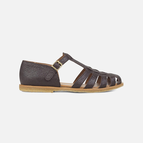 Women's Vegan Fisherman Sandal - Dark Brown
