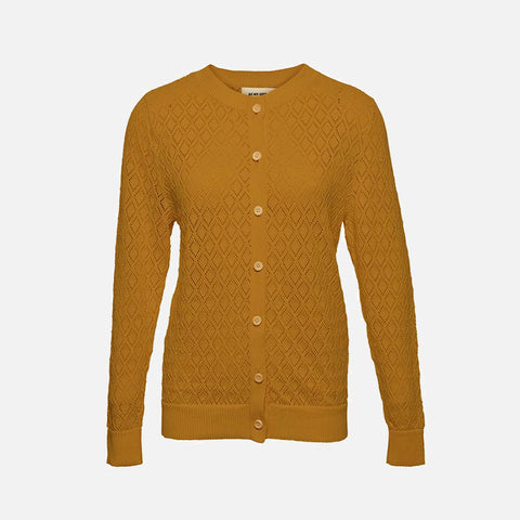 Women's Organic Cotton Diamond Cardigan - Straw