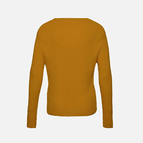 Women's Organic Cotton Grandpa Sweater - Straw