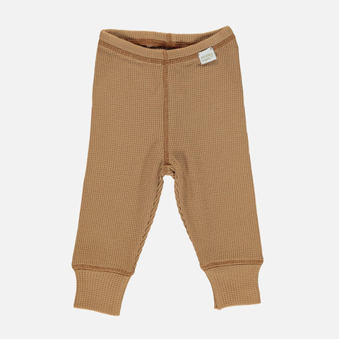 Organic Cotton Basilic Leggings - Brown Sugar