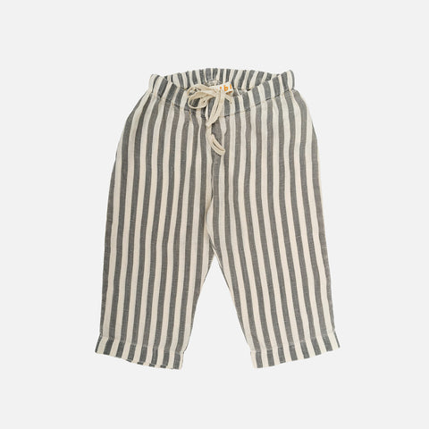 Linen Berny Trousers - Flax Stripes