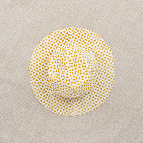 Cotton Babunanu Sun Hat - Yellow Print