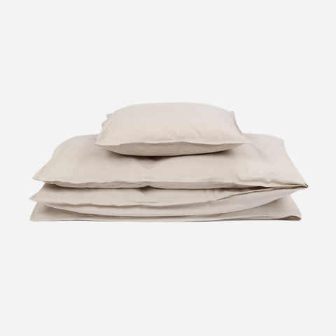 Organic Cotton Duvet & Pillow Cover - Cloud - Junior Size