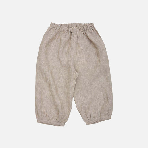 Linen Bubble Pants - Beige