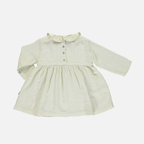 Organic Cotton Campanule Dress - Almond Milk