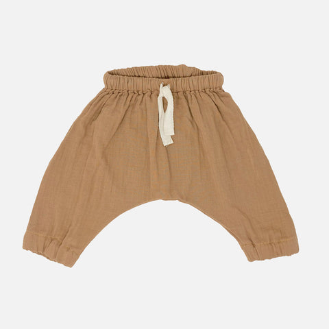 Organic Cotton Cannelle Pants - Brown Sugar