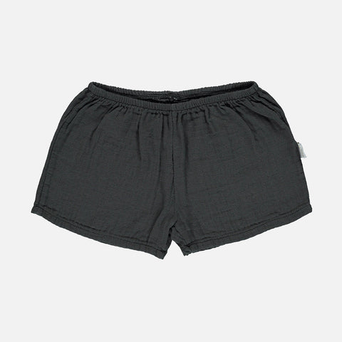 Organic Cotton Cardamome Shorts - Pirate Black